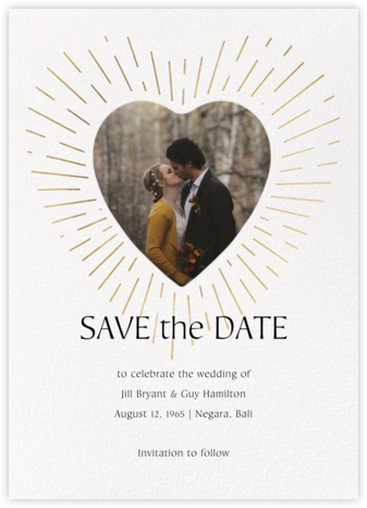 Radiant Love - Paperless Post - Gold and metallic save the dates