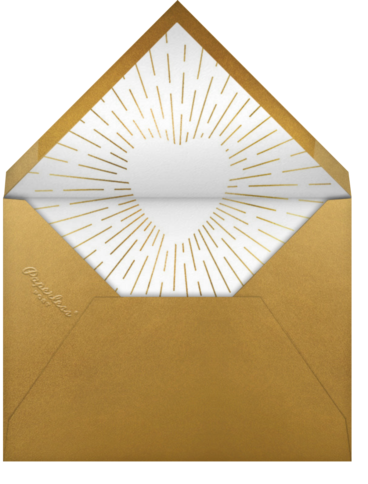 Radiant Love - Paperless Post - Engagement party - envelope back