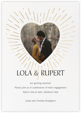 Radiant Love - Paperless Post - Engagement party invitations