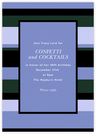 Stripe Hype - Antwerp - kate spade new york - Adult Birthday Invitations