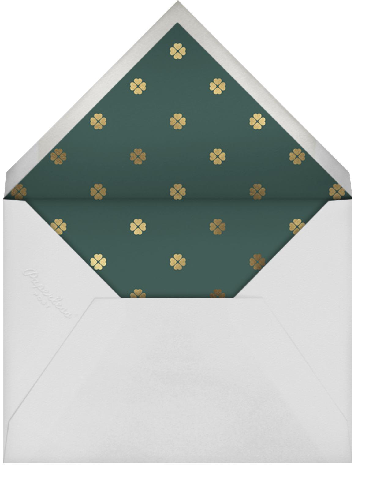 Three Petals - Mint - kate spade new york - Bridal shower - envelope back