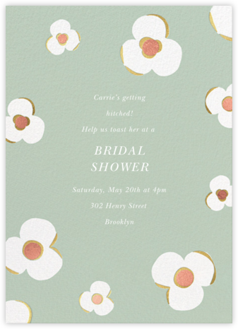Three Petals - Mint - kate spade new york - Bridal shower invitations