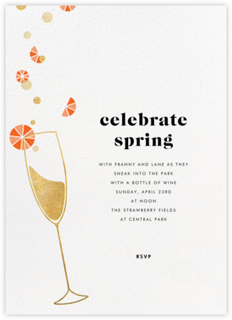 Citrus Fizz - Gold - Paperless Post - Spring Party Invitations