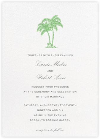 Mascarene (Invitation) - Green - Crane & Co. - Online Wedding Invitations