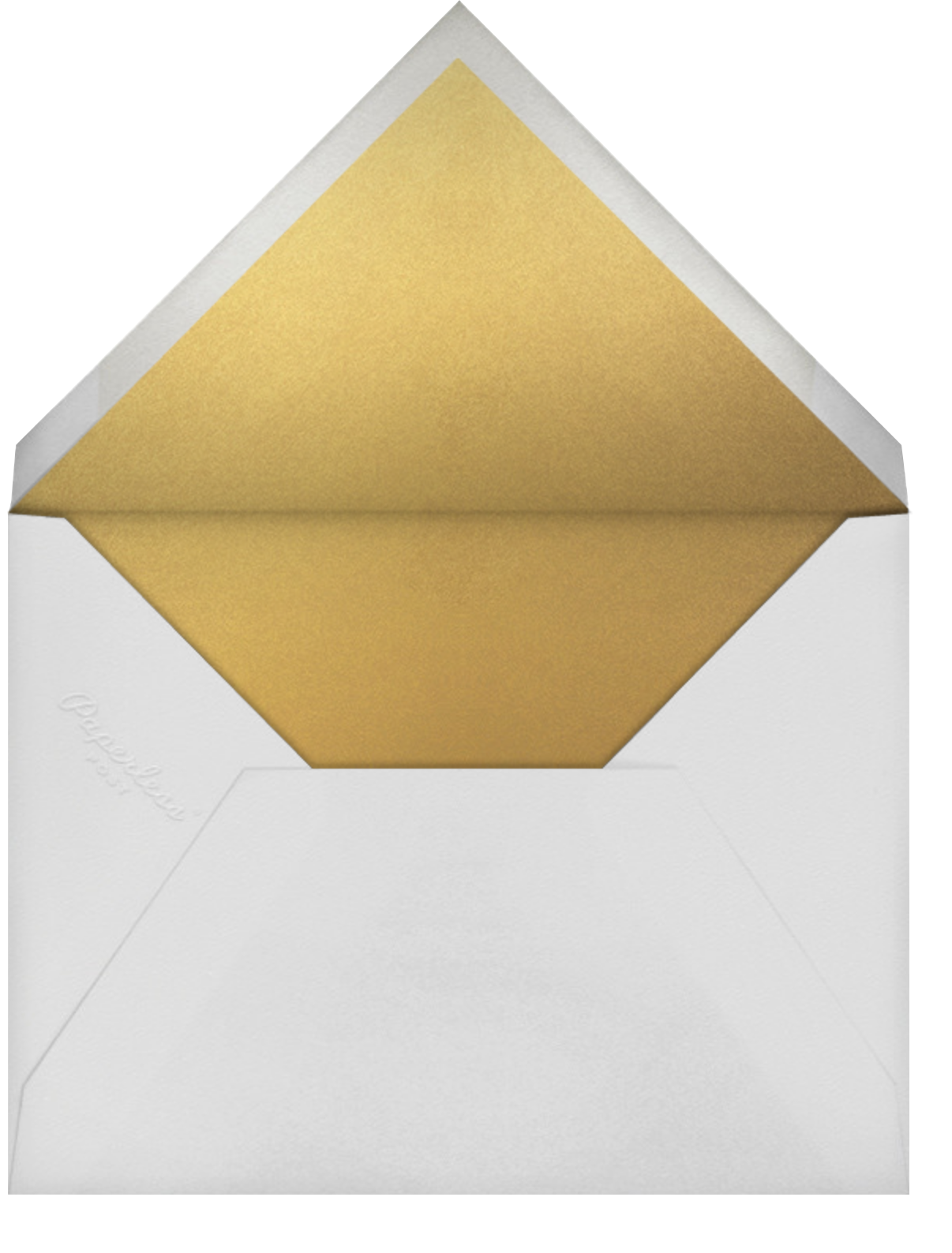 Mascarene (Save the Date) - Gold - Crane & Co. - Save the date - envelope back