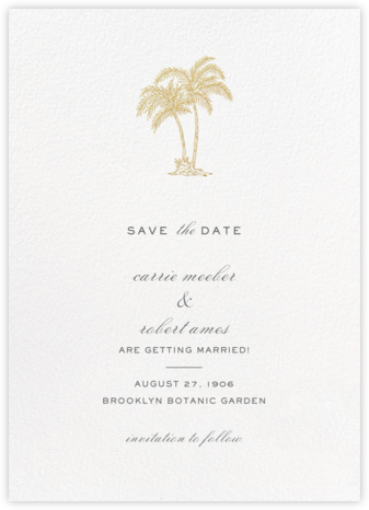 Mascarene (Save the Date) - Gold - Crane & Co. - Save the dates