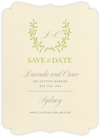 Lucky Wreath - Crane & Co. - Save the dates