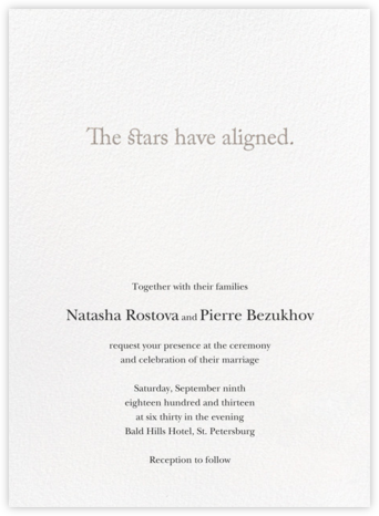 Cosmos - Vera Wang - Wedding Invitations