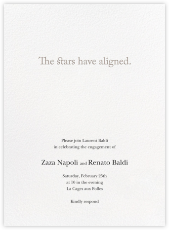 Cosmos - Vera Wang - Engagement party invitations