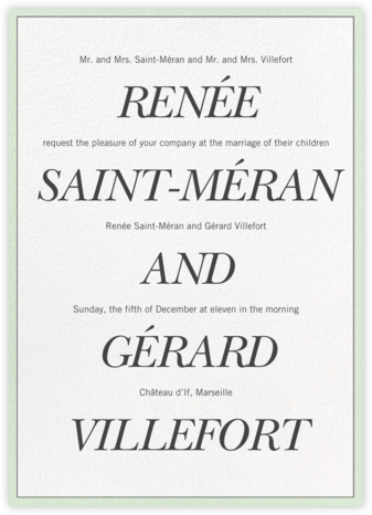 Duet - Vera Wang - Wedding invitations