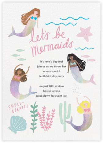 Mermaids in Waiting - Meri Meri - Virtual Parties