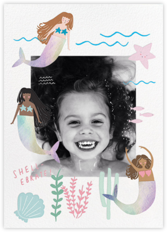 Mermaids in Waiting Photo  - Meri Meri - Online Kids' Birthday Invitations