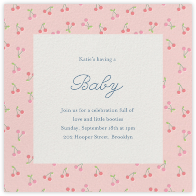 Cherry Baby - Little Cube - Baby Shower Invitations