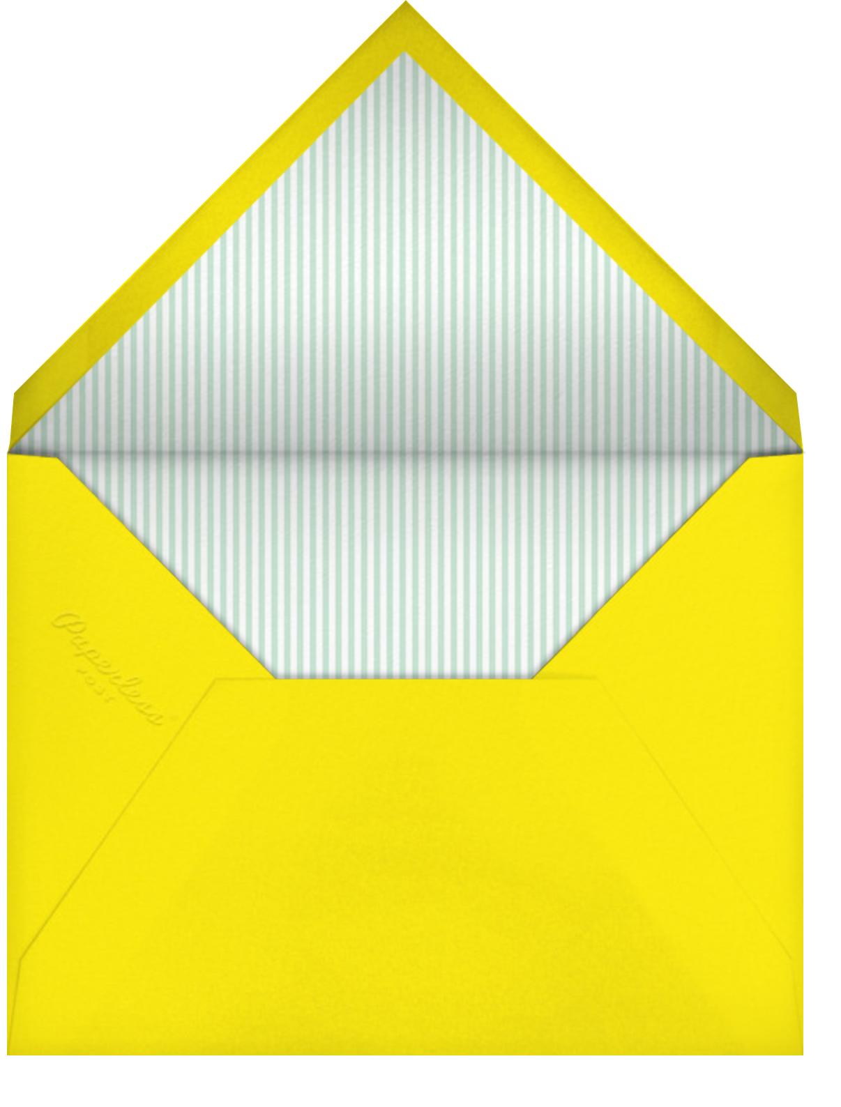 Sprinkle Hair - Little Cube - Kids' birthday - envelope back