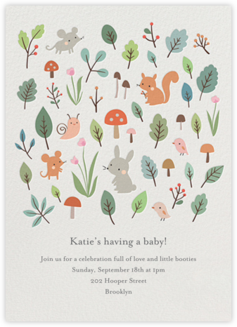 Full Forest - Little Cube - Woodland Baby Shower Invitations