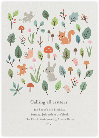 Full Forest - Little Cube - Birthday invitations
