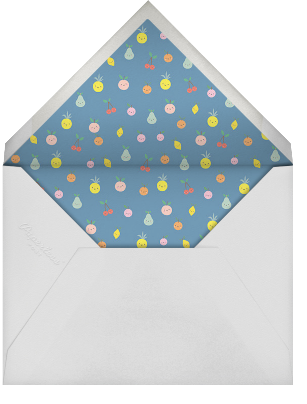 Cute Fruit - Little Cube - Baby shower - envelope back