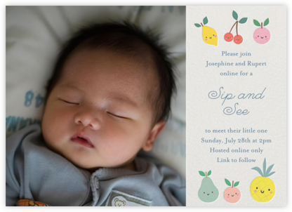 Cute Fruit Photo - Little Cube - Online Party Invitations