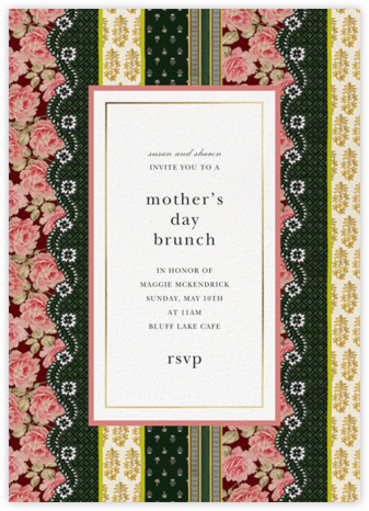 Patchwork Stripe - Oscar de la Renta - Online Mother's Day invitations