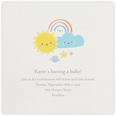 Smiling Skies - Little Cube - Baby Shower Invitations