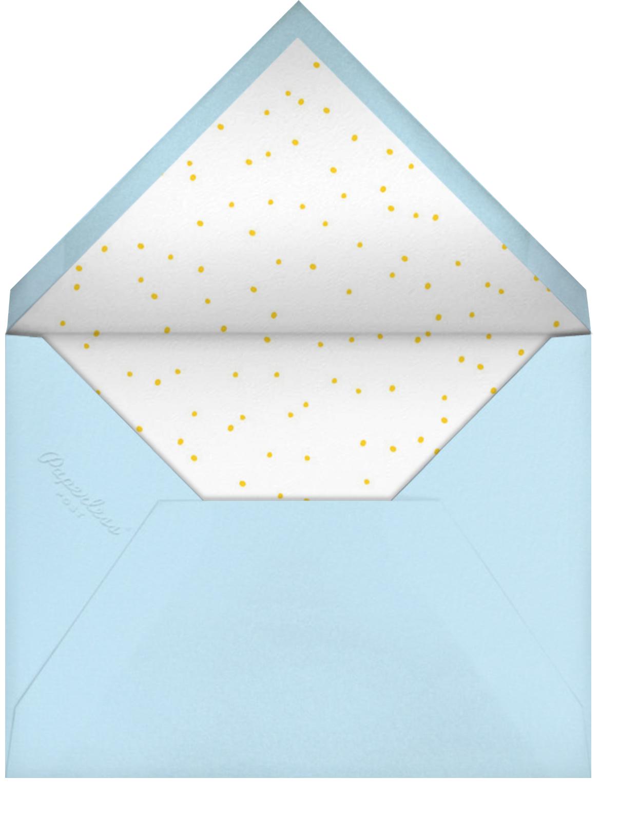 Smiling Skies - Little Cube - 1st birthday - envelope back