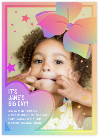 Birthday Bow - Paperless Post - Online Kids' Birthday Invitations