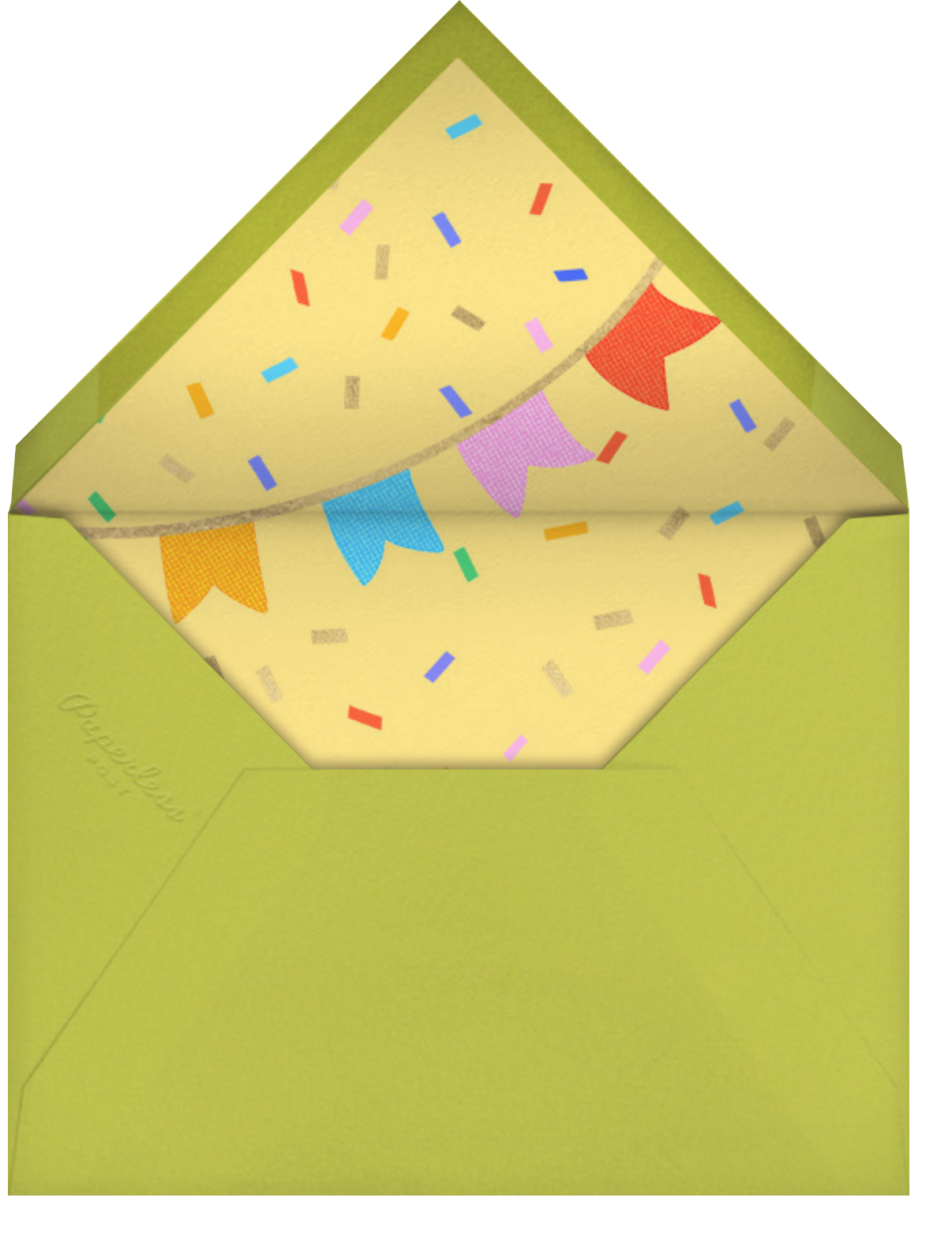 Icing on the Cake - Paperless Post - Kids' birthday - envelope back
