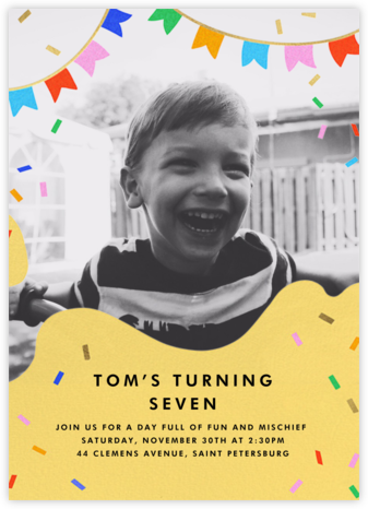 Icing on the Cake - Paperless Post - Online Kids' Birthday Invitations