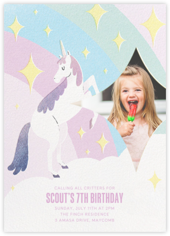 Magic Unicorn Photo - Paperless Post - Online Kids' Birthday Invitations