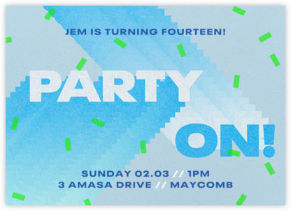 Party On - Paperless Post - Birthday invitations