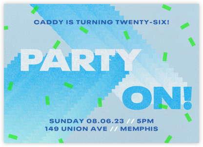 Party On - Paperless Post - Adult Birthday Invitations