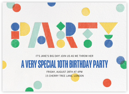 Birthday Blocks - Paperless Post - Invitations