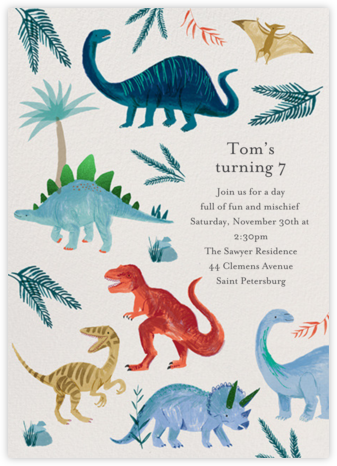 Classic Triassic - Meri Meri - Kids' Birthday Invitations