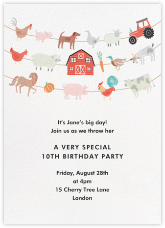 Strings Attached - Meri Meri - Online Kids' Birthday Invitations