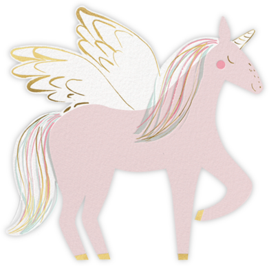 Rainbow Mane - Meri Meri - Unicorn invitations