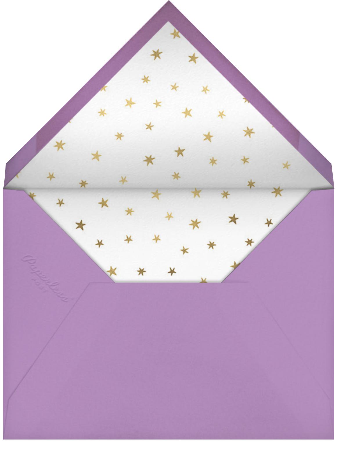 Rainbow Mane - Meri Meri - Unicorn invitations - envelope back