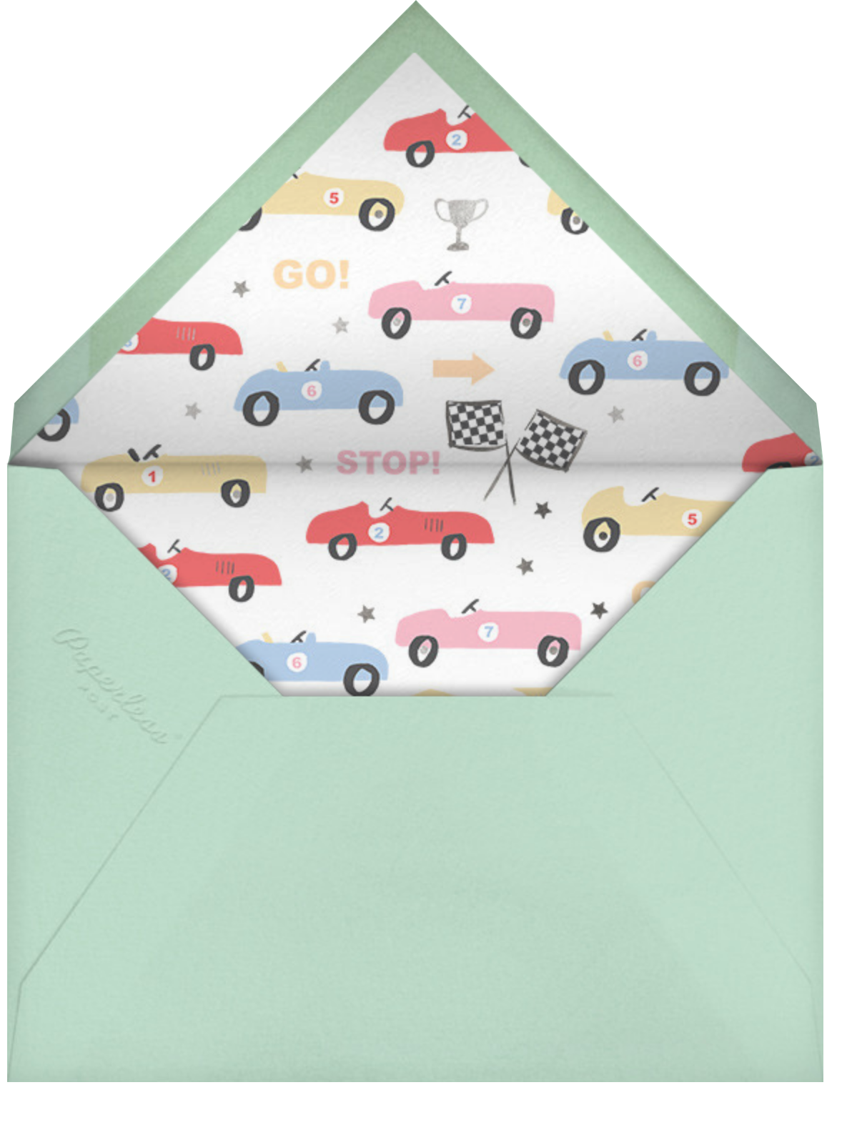 Boxcar Birthday - Meri Meri - Kids' birthday - envelope back