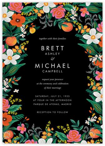 Orangerie (Invitation) - Black - Rifle Paper Co. - Wedding Invitations