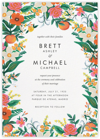 Orangerie (Invitation) - White - Rifle Paper Co. - Rifle Paper Co. Wedding