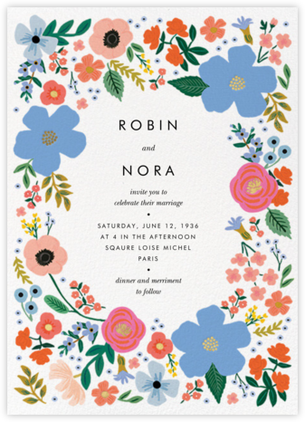 Wild Rose Border (Invitation) - Rifle Paper Co. - Rifle Paper Co. Wedding
