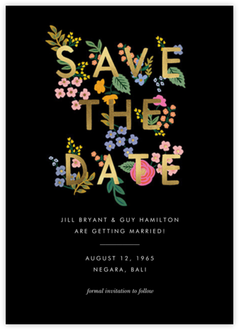 Posey - Black - Rifle Paper Co. - Save the dates