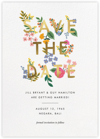 Posey - White - Rifle Paper Co. - Save the dates