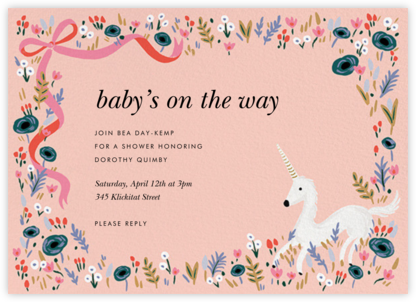Magic Baby Shower - Rifle Paper Co. - Unicorn invitations