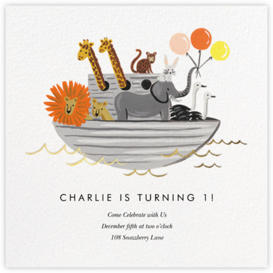 Noah's Arc - Rifle Paper Co. - First Birthday Invitations