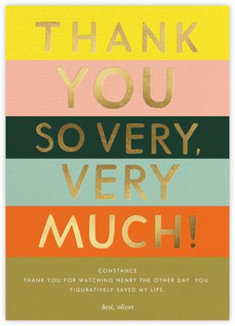 Color Block Thank You - Rifle Paper Co. - Online Thank You Cards