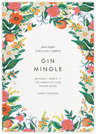 Orangerie - White - Rifle Paper Co. - Casual Party Invitations