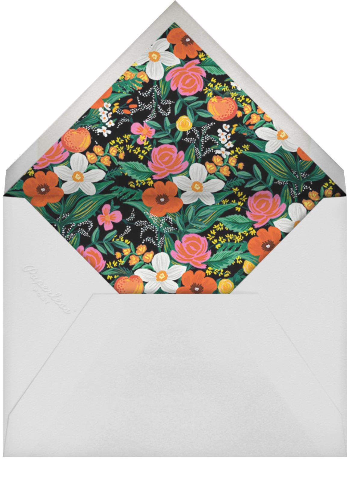 Orangerie (Square) - Black - Rifle Paper Co. - Graduation party - envelope back