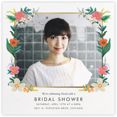 Orangerie (Square) - White - Rifle Paper Co. - Bridal shower invitations