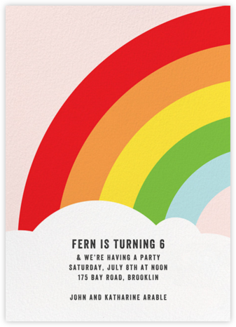 Rainbow's End - Paper + Cup - Kids' Birthday Invitations
