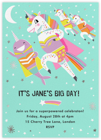 Super Squad - Hello!Lucky - Online Kids' Birthday Invitations